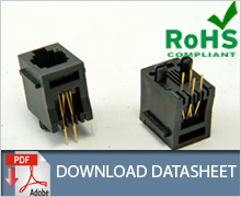RJ11 Top Entry Modular Jack