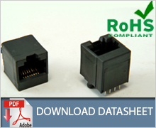 RJ45 Top Entry Modular Jack