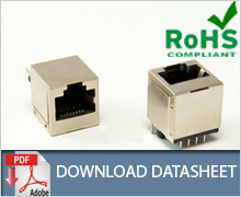 RJ45 Top Entry Shielded Modular Jack